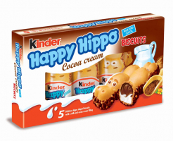 Бисквити Kinder Happy Hippo Какао 103 г
