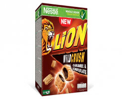 Зърнена закуска Nestle LION WILD CRUSH caramel&chocolate 360 г