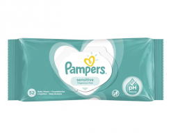 Бебешки влажни кърпички Pampers Sensitive 52 бр