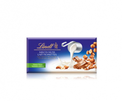 Млечен шоколад с цели лешници Lindt Lait-Noisettes 100гр