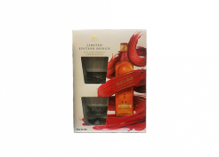 Уиски Johnnie Walker Red Label +2 чаши Limited Edition Design 0.7л