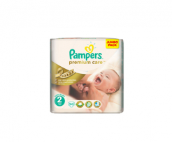 Пелени Pampers premium care  2 (3-6) 72/80бр