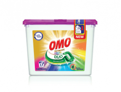 17бр Капсули за пране Omo Ultimate Duo Color - за цветно пране