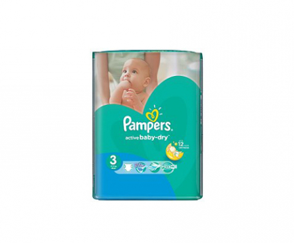 Пелени Pampers active baby 3 (5-9) 82бр