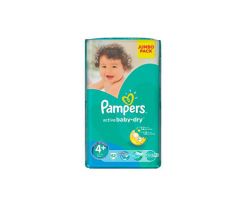 Пелени Pampers active baby 4+(9-16) 62бр