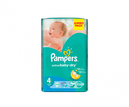 Пелени Pampers active baby 4 (8-14) 70 бр