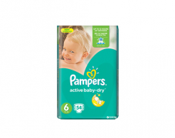 Пелени Pampers active baby 6 (15+) 54 бр